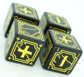 Black & Yellow Antique Fudge Dice Set